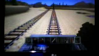Minecraft 1 trilhas da trem