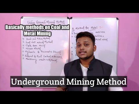 Underground Mine Methods
