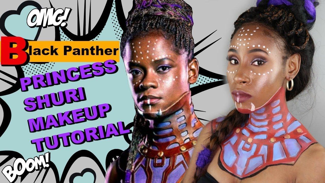 Marvel Comics Black Panther Princess Shuri Makeup/Cosplay Tutorial