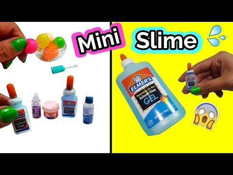Mini Slime, mini resistol y mini globos