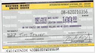 How to write a money order Western Union -SHAHED!!!