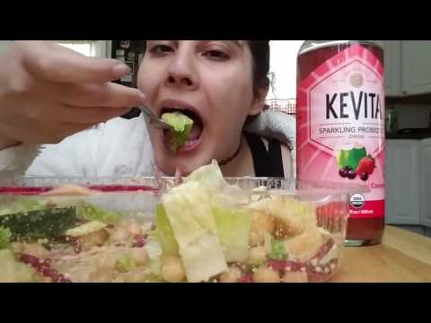 Salad with vegan thousand island dressing (mukbang) [eat with me]