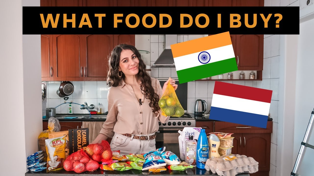 What Indian food and Dutch food do I buy as a Netherlands foreigner in India vlog | TRAVEL VLOG IV