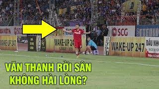 Bị thay ra sân, Văn Thanh tỏ ý không hài lòng với quyết định của HLV trưởng Hoàng Anh Gia Lai
