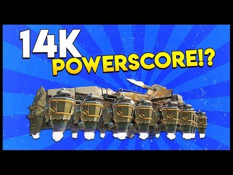 Crossout - 14K POWERSCORE BEAST! Dual Firebug + Harvester & Quad Porcupine Explosive Barrels