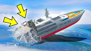 CAN 100+ TANKS SINK THE YACHT IN GTA 5?