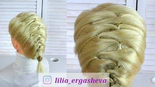 Прическа на короткие волосы за 5 минут /Прически с плетением 💓Hairstyle for short hair for 5 minute