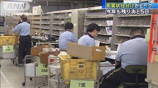 今年も残りあと5日 年賀状の仕分け作業がピーク(19/12/26)