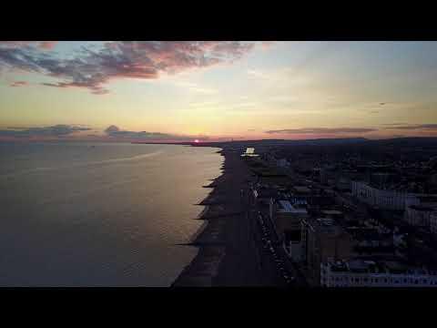 Sunset in Brighton... Long distance Flying... Drone Dji Mavic Pro.