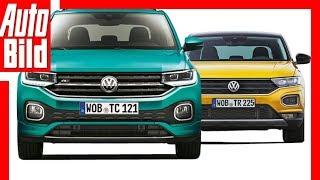 VW T-Cross vs VW T-Roc (2018) Vergleich / Test / Review