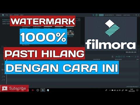 Cara Gampang Menghilangkan Watermark Di Filmora Terbaru Youtube