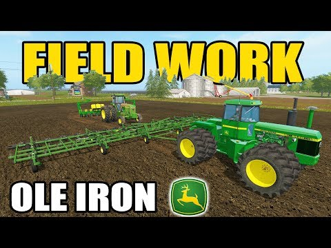 FARMING SIMULATOR 2017 | OLD JOHN DEERE TILLAGE + PLANTING | FIELD WORK | CANADA EP #2