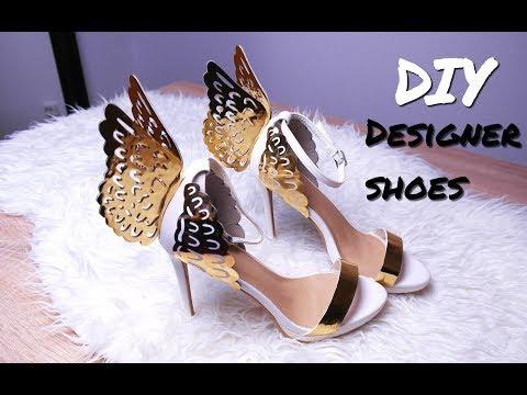 DIY LUXURY DESIGNER SHOES FOR CHEAP!! / SOPHIA WEBSTER ANGEL WING HIGH HEELS