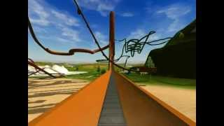 Roller Coaster Tycoon 3 - Very Long Water Slide (About 15,000 Feet) [HD]