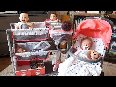 Reborn Baby Doll Nursery Playset For Twin Reborns
