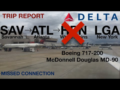Delta Airlines (DL1620 + DL1946) I SAV-ATL-LGA I Comfort+ + Economy I B717-200 + MD-90 I Trip Report
