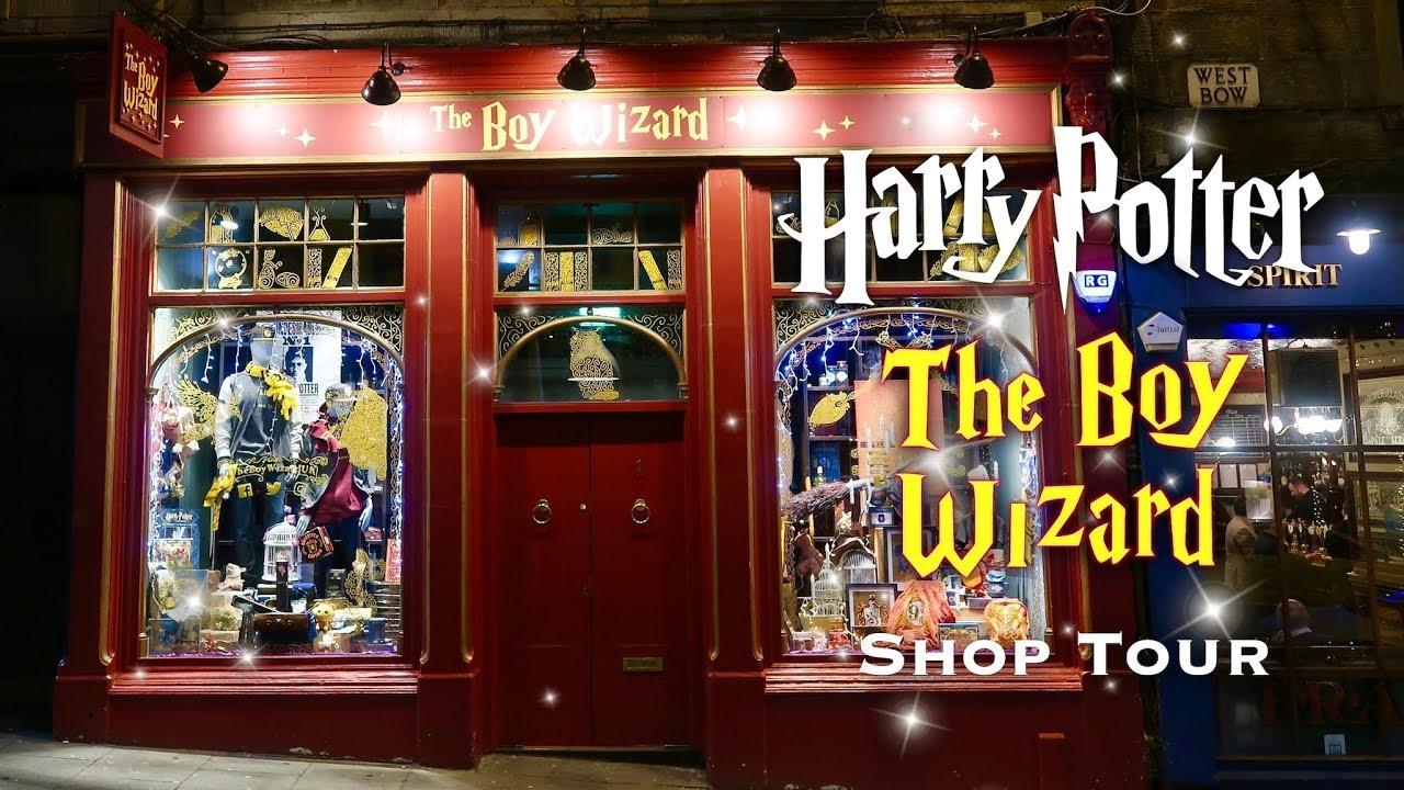 Harry Potter Shop Tour The Boy Wizard Edinburgh Scotland Youtube