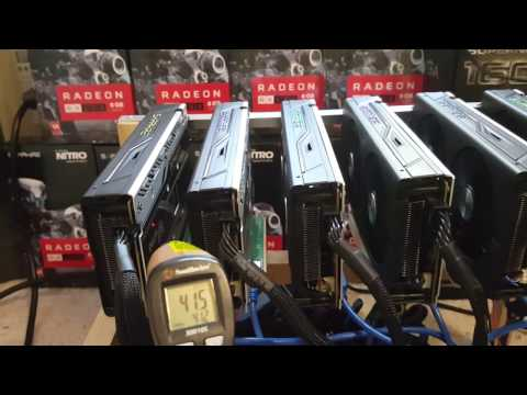 Temperature Reading From 6 Sapphire RX 480 8GB Graphics Card Mining Ethereum