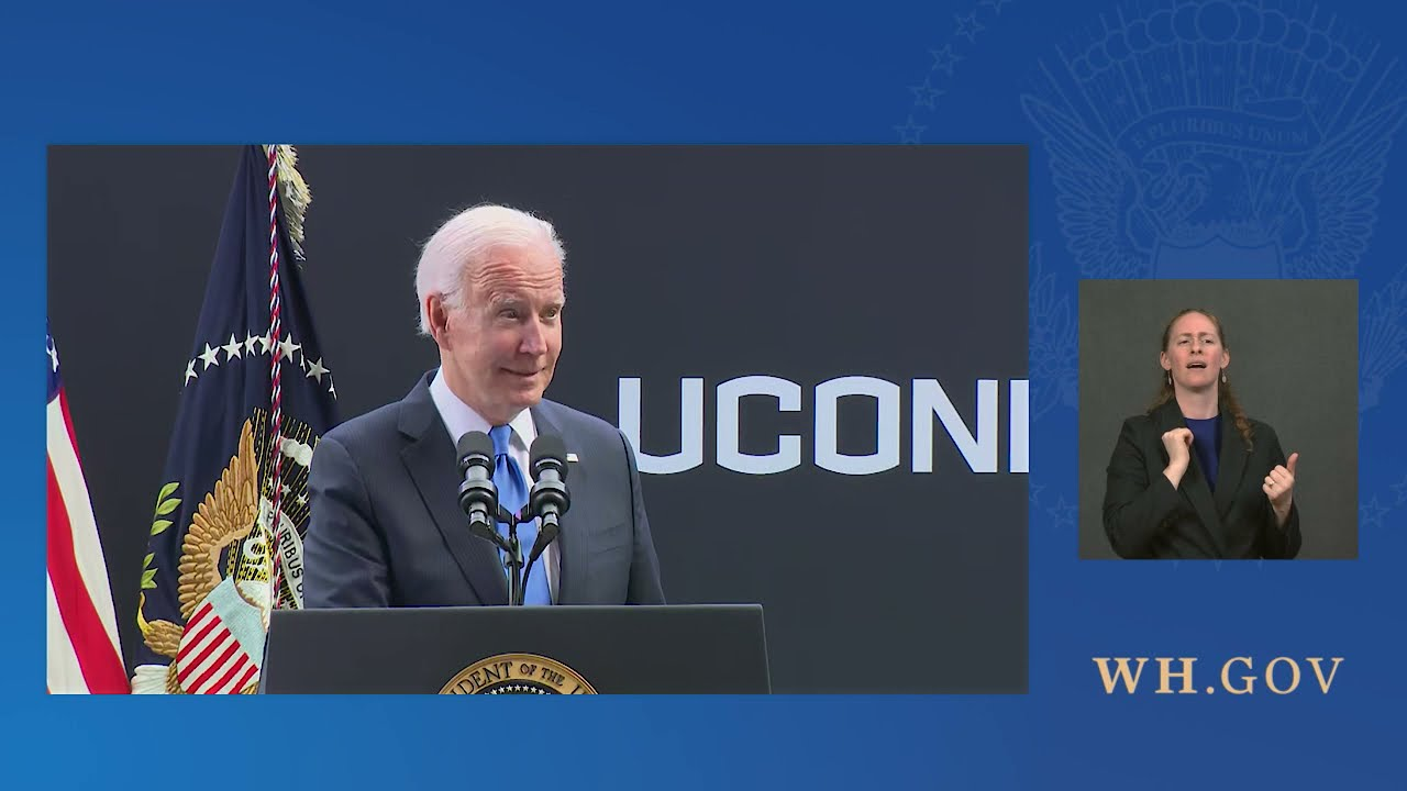 President Biden Delivers Remarks at the University of Connecticut