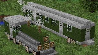 как построить поезд в minecraft видео