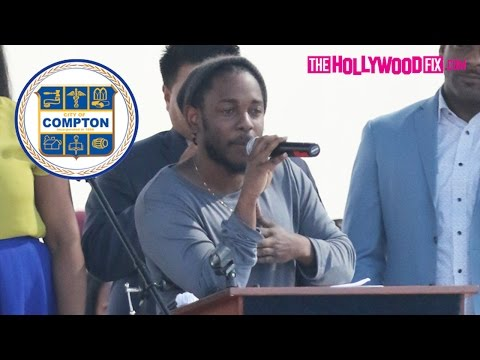 Kendrick Lamar Receives The Key To The City Of Compton (FULL VIDEO) 2.13.16 - TheHollywoodFix.com