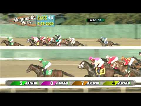 video thumbnail for MONMOUTH PARK 09-26-20 RACE 10