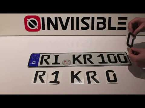 Make Your License Plate Invisible Eu Style 100 Effect