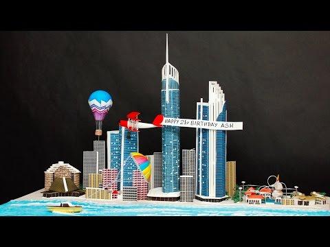 Making Of The Gold Coast Skyline Cake