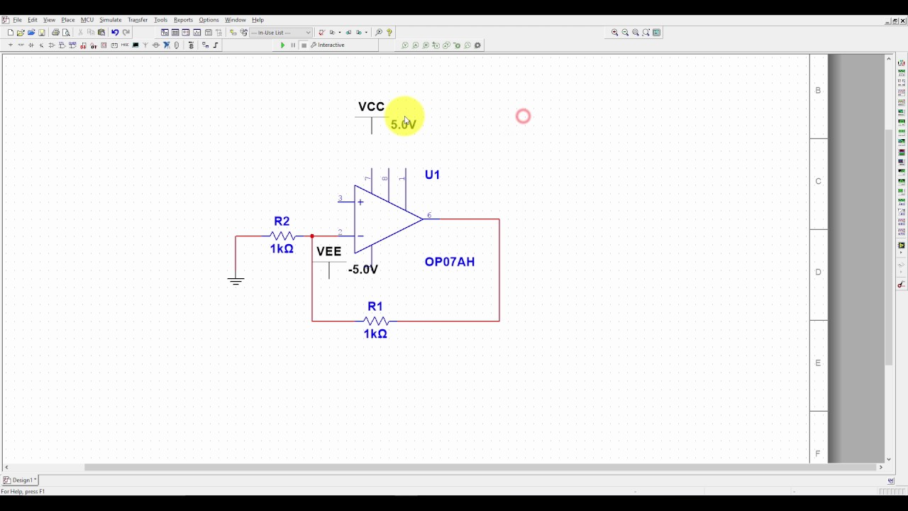 Multisim Tutorial 1- Opamp Amplifier Simulation for Beginners