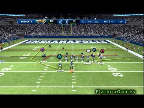 NFL 2012 Week 3 - Jacksonville Jaguars vs Indianapolis Colts - Andrew Luck Career - Madden