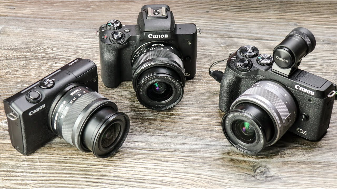 Aktuelle EOS M-Kameras im Vergleich: Canon EOS M200 vs M50 vs M6 Mark II