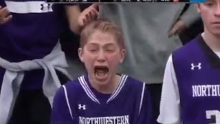 Northwestern Basketball Fan Losing His Marbles | REACTION