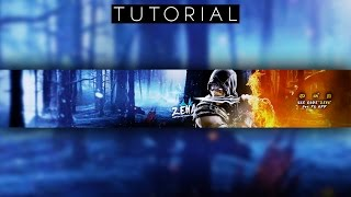 BEST Mortal Kombat YouTube Banner Tutorial | Photoshop CC
