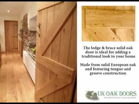 Solid Oak Ledge u0026 Brace Door : ledged doors - pezcame.com