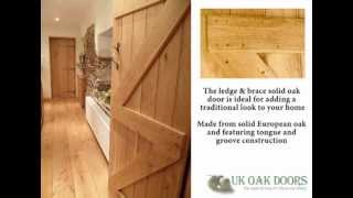 Solid Oak Ledge & Brace Door