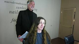 Woman Cuts Off Two Feet of Hair, by Christopher Hopkins, The Makeover Guy®
