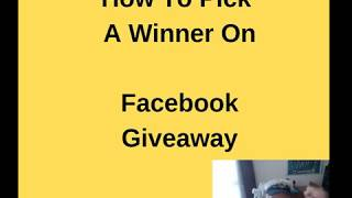 How To Pick a Winner On Facebook Giveaway