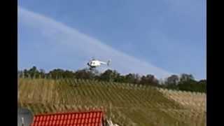 Helikopter on Tour - Heli bei der Arbeit am Weinberg - Power Job 2012 - Hubschrauber