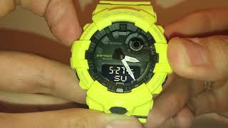casio G-Shock GBA-800-9A Настройка и калибровка стрелок часов