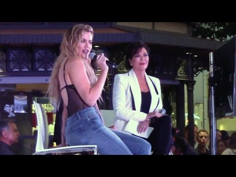 Khloe Kardashian And Kris Jenner Promote Denim Line In First Public Appearance Since Kim's Robbery
