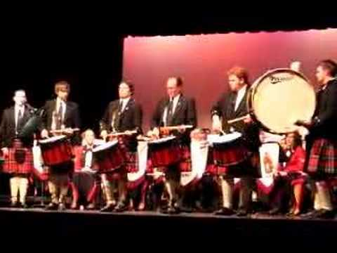 City of St. Johns pipe band: Alex Duthard drum salute