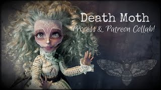 Death Moth Costume, Wings, And Face-up Process Custom OOAK Monster High Doll Repaint Patreon Collab