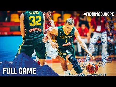 Turkey v Lithuania - Full Game - 3rd Place - FIBA U18 European Championship 2017