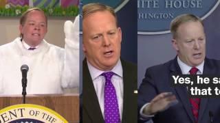 How Melissa McCarthy interprets Sean Spicer on SNL