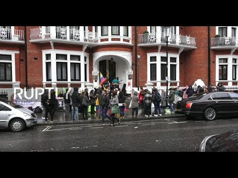 LIVE  from Ecuadorian Embassy in London amid reports of Assange's asylum withdrawal