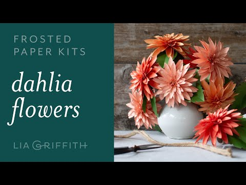 DIY Beautiful Dahlia Flower with Frosted Paper: Easy to Use -  Paper Flower Kit (full tutorial)