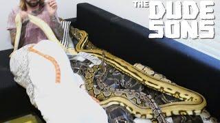 Giant Snake Wake Up Prank - The Dudesons