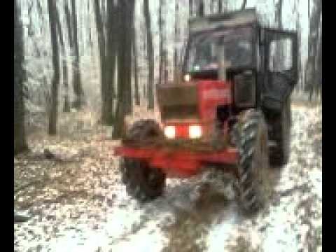 aurica cu tractoru iarna