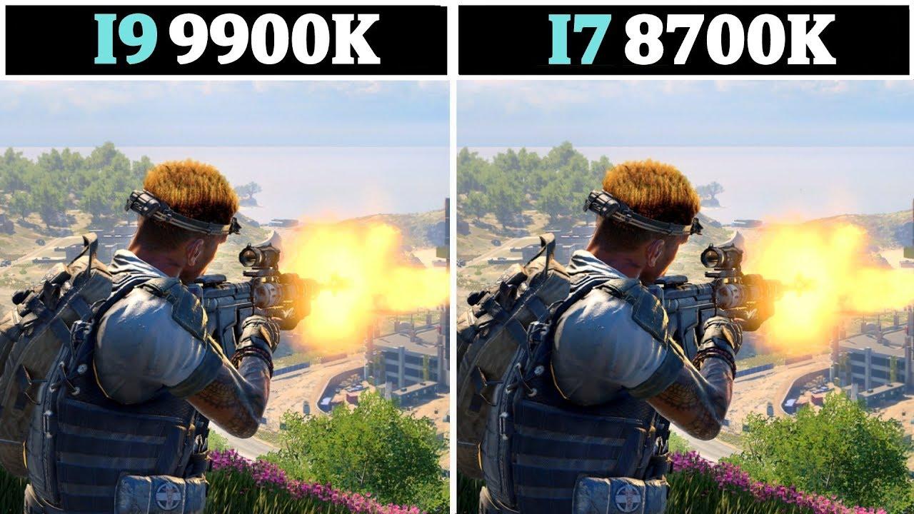 Новые процессоры Intel i9 9900K и i7 9700K сравнили с прошлогодним i7 8700K в AAA-играх на ультравысокой графике