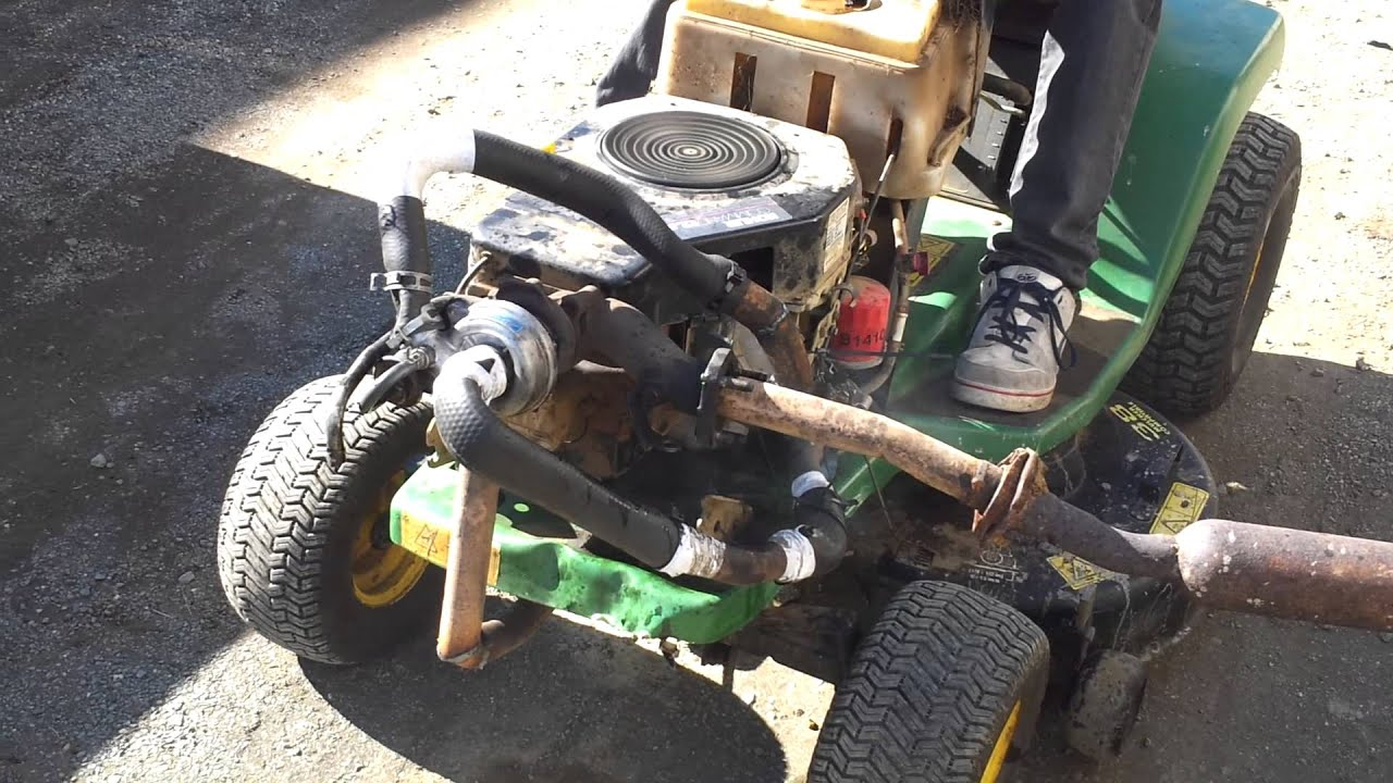 Lawn Mower Turbocharger : Turbo lawn mower youtube